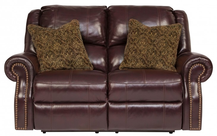 Walworth Blackcherry Power Reclining Loveseat