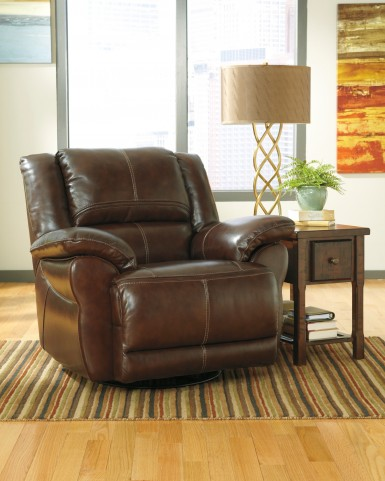 Lenoris Coffee Swivel Rocker Recliner