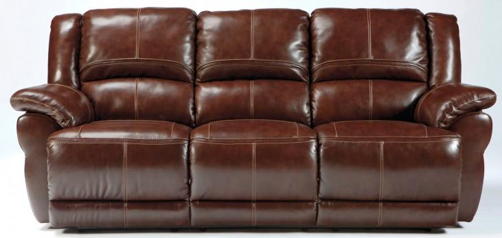 Lenoris Coffee Power Reclining Sofa