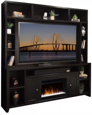 Urban Loft Mocha Fireplace Entertainment Center