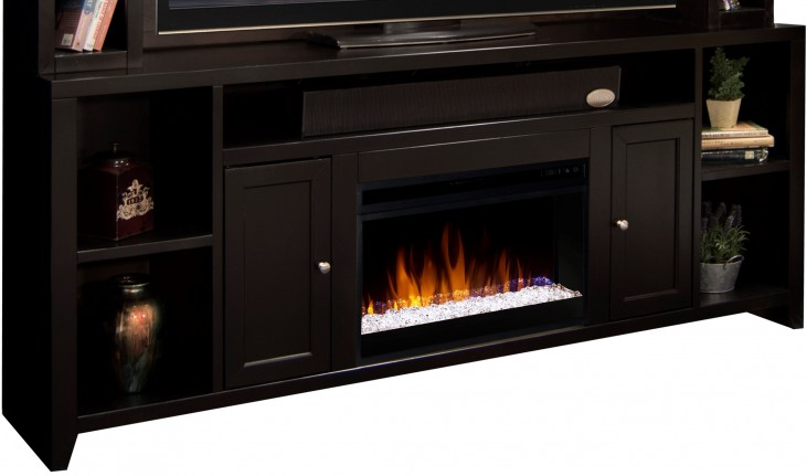 "Urban Loft Mocha 85"" Fireplace Console"