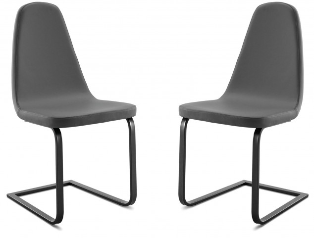 Blade Skill Grey Steel Chair Set of 2