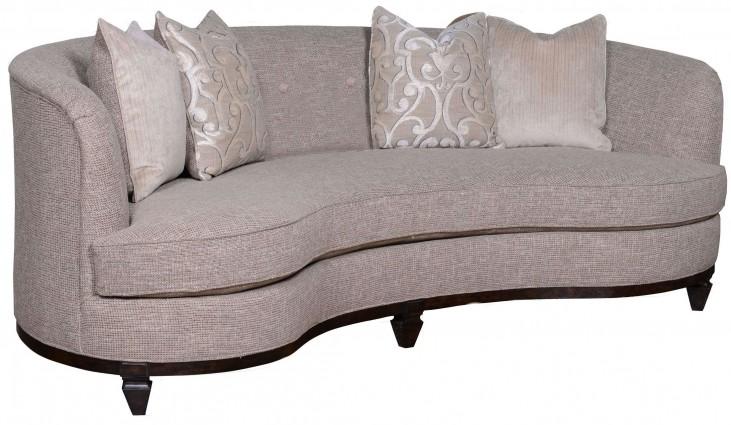 "Blair Fawn Grey 84"" Kidney Sofa"