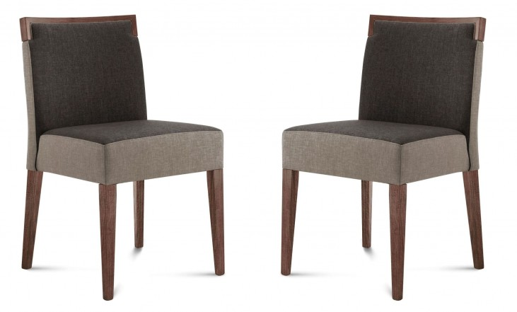 Ariel Walnut Beechwood Chair Set of 2