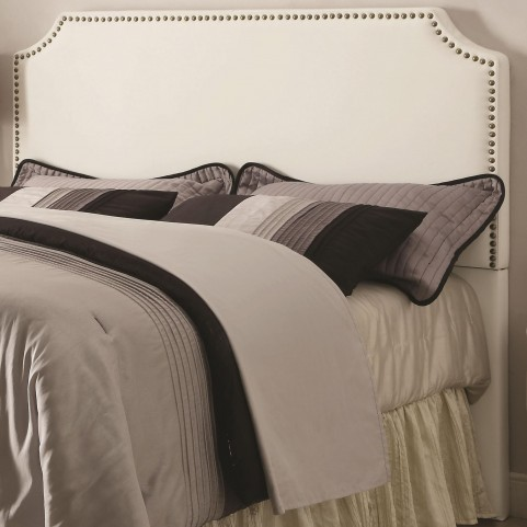 Novato White King Upholstered Headboard
