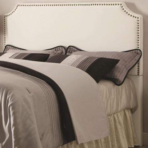 Novato White Queen Upholstered Headboard