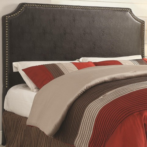 Novato Black King Upholstered Headboard