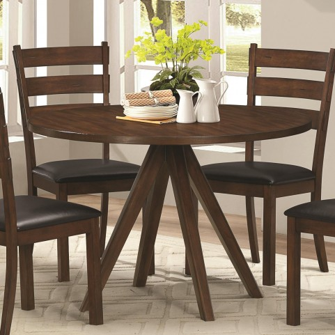 Urbana Vintage Cinnamon Round Pedestal Dining Table