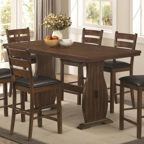 Urbana Vintage Cinnamon Rectangular Counter Dining Table