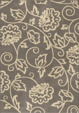 Orian Rugs Plush Floral Abby Gray Area Medium Rug