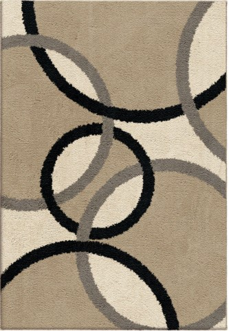 Orian Rugs Plush Circles Magic Rings Beige Area Large Rug