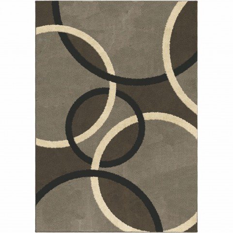 Magic Rings Earl Grey Large Rug