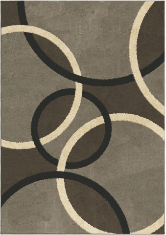 Orian Rugs Plush Circles Magic Rings Gray Area Large Rug