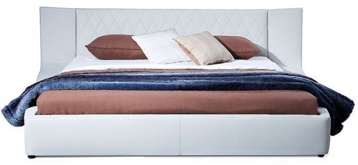 Valentina White Queen Platform Bed