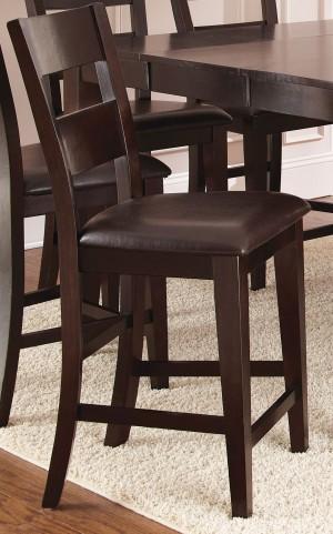 Victoria Dark Espresso Counter Chair Set of 2