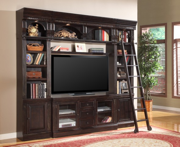 "Venezia Library 60"" Spacesaver Entertainment Wall Unit"