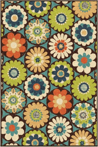 Orian Rugs Indoor/Outdoor Floral Vissage Multi Area Medium Rug
