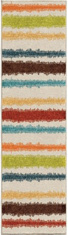 Orian Rugs Indoor/Outdoor Stripes Montreal Multi Runner Rug