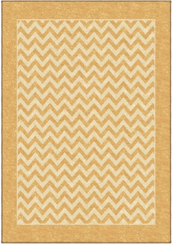 Orian Rugs Indoor/Outdoor Geometric Sunny Day Stripe Gold Area Large Rug