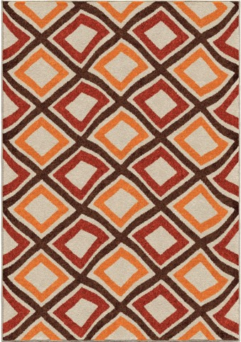 Orian Rugs Indoor/Outdoor Squares Broad Street Multi Area Small Rug