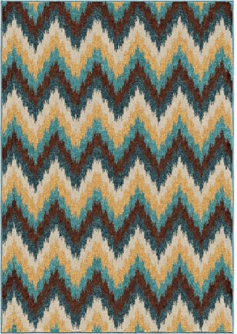 Orian Rugs Indoor/Outdoor Chevron Amberwood Multi Area Small Rug