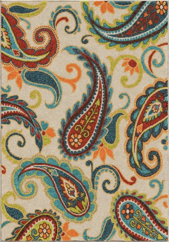 Veranda Indoor/Outdoor Paisley Edisto Multi Small Area Rug