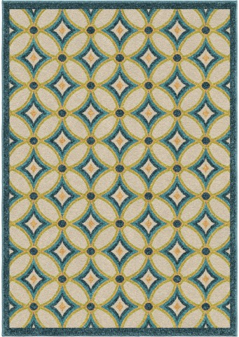 Orian Rugs Indoor/Outdoor Circles Tezza Multi Area Small Rug