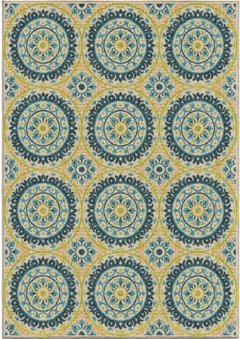 Orian Rugs Indoor/Outdoor Medallion Hamilton Multi Area Small Rug
