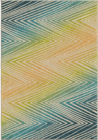 Orian Rugs Indoor/Outdoor Chevron Wendover Multi Area Small Rug