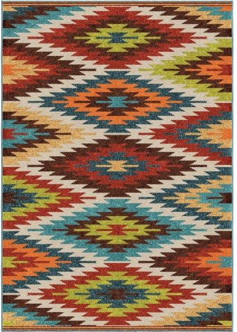 Veranda Indoor/Outdoor Aztec Sedona Multi Small Area Rug
