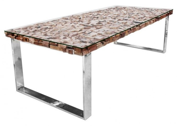 Taj Viaggi Magnolia Rectangular Stainless Steel Dining Table
