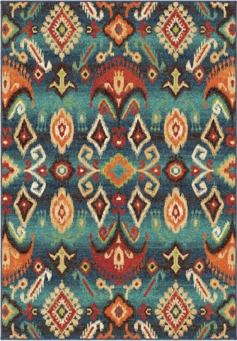 Orian Rugs Bright Color Southwest Aztec Monica Multi Area Small Rug