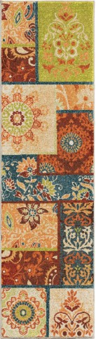 Orian Rugs Bright Color Paisley Pasha Multi Runner Rug
