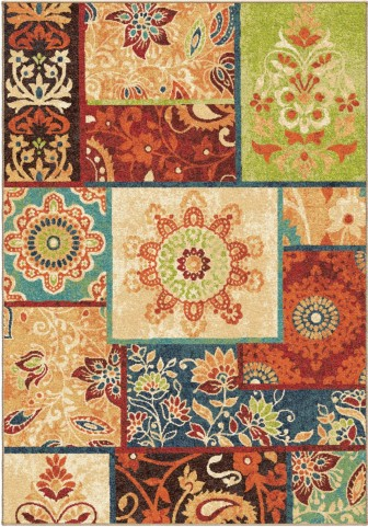 Orian Rugs Bright Color Paisley Pasha Multi Area Medium Rug