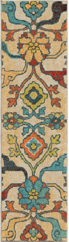 Orian Rugs Bright Color Floral Tibet Multi Runner Rug
