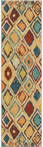 Orian Rugs Bright Color Geometric Nabalis Multi Runner Rug