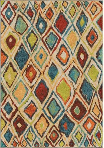 Orian Rugs Bright Color Geometric Nabalis Multi Area Medium Rug