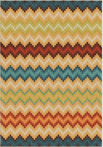 Orian Rugs Bright Color Chevron Candy Chevron Multi Area Small Rug