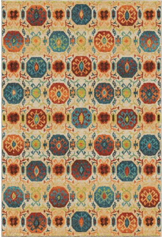 Orian Rugs Bright Color Mini Medallions Lahara Multi Area Large Rug