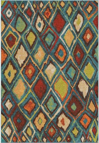Orian Rugs Bright Color Diamonds Nablis Blue Area Small Rug