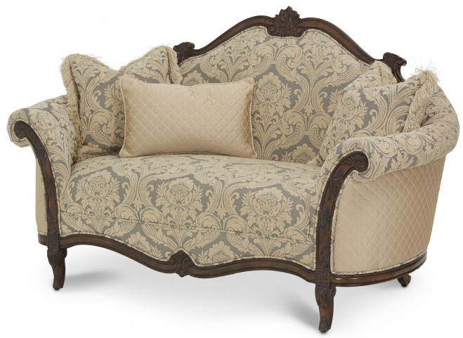 Victoria Palace Wood Trim Settee