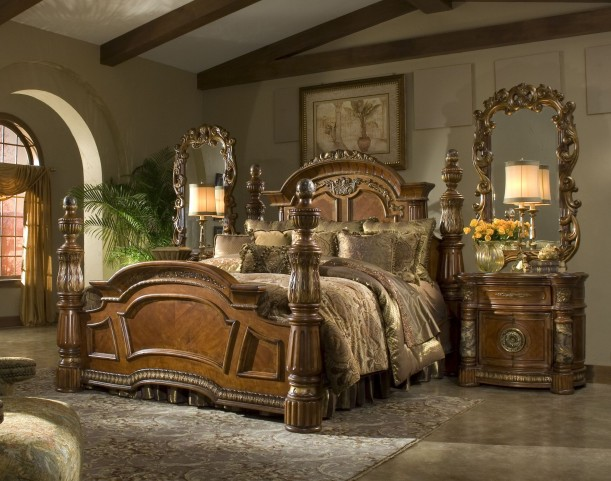 Villa Valencia Low Profile Bedroom Set