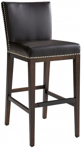 Vintage Brown Leather Barstool