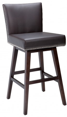 Vintage Swivel Barstool Leather in Brown