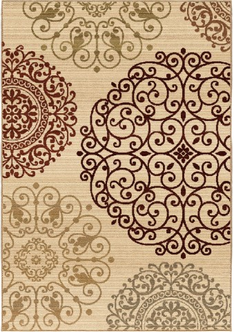 Orian Rugs Unique Designs Medallions Eton Ivory Area Extra Large Rug