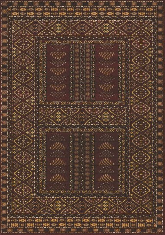 Visconti Maroon Traditional Medium Rug