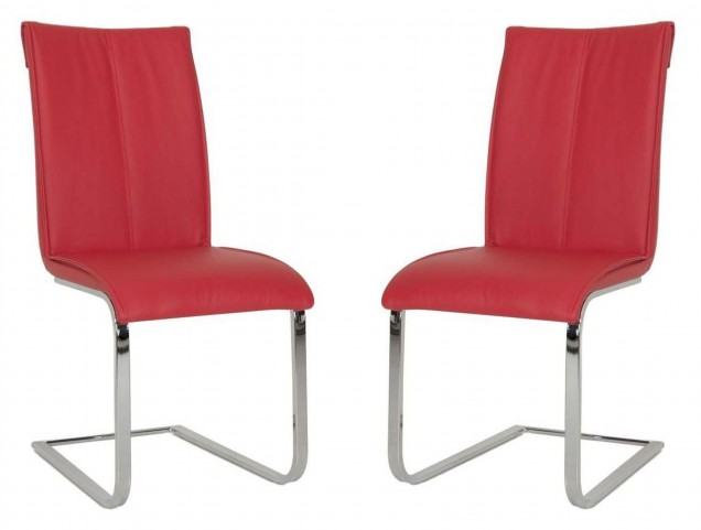 Regis Vita Red Dining Chair Set of 2