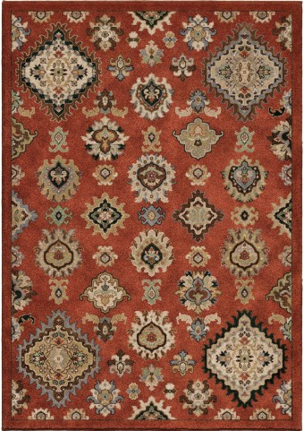 Orian Rugs Insanely Soft Southwest Larache Burnt Red Area Large Rug