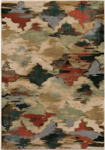Orian Rugs Insanely Soft Abstract Harlequin Multi Area Small Rug