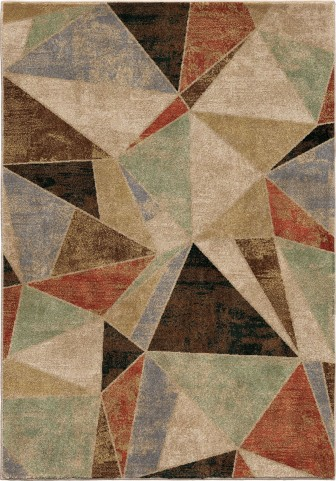 Orian Rugs Insanely Soft Geometric Glass Shard Multi Area Small Rug